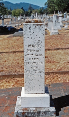 Mary Call headstone