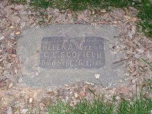 Helen Scofield gravestone