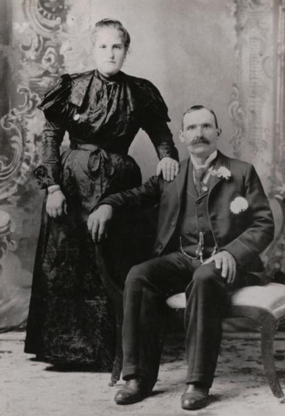 Agnese and Giacomo Giorgi circa 1896