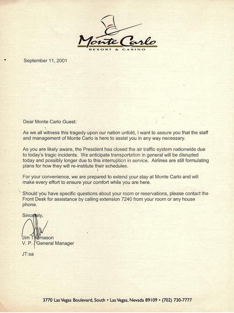 Hotel Letter
